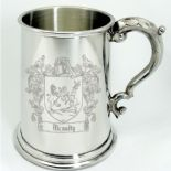 Coat of Arms Family Crest Pewter Tankard ref PEWTCR